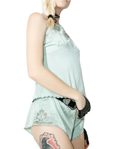 Boudoir Baby Satin Shorts
