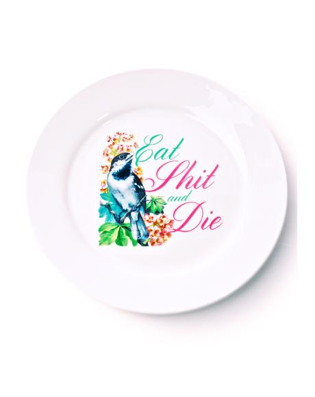 Eat Shit & Die Dinner Plate