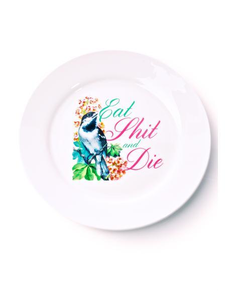 Eat Shit & Die Dinner Plate