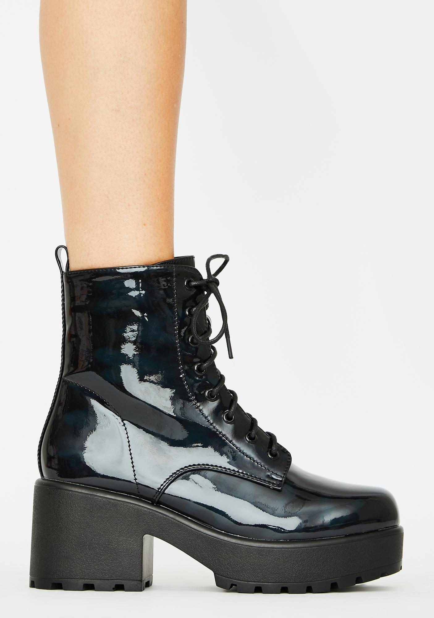 Koi Footwear Gin Holographic Platform Boots