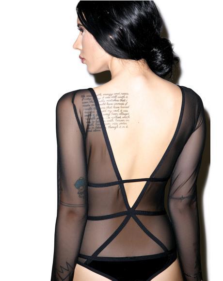 Velvet Pentagram Bodysuit