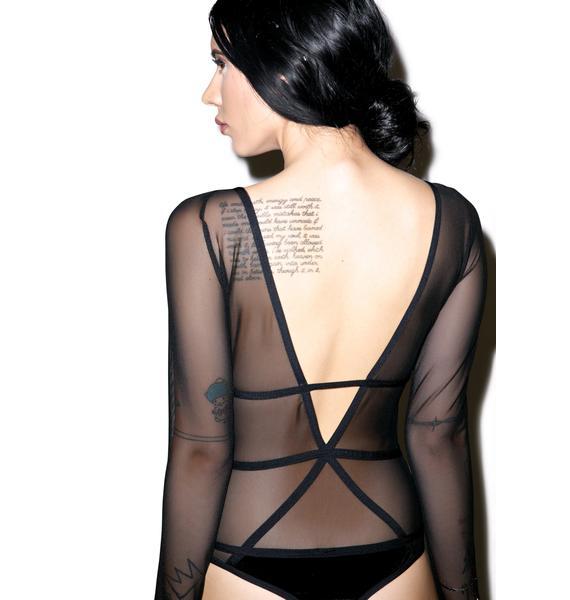 Chromat Velvet Pentagram Bodysuit