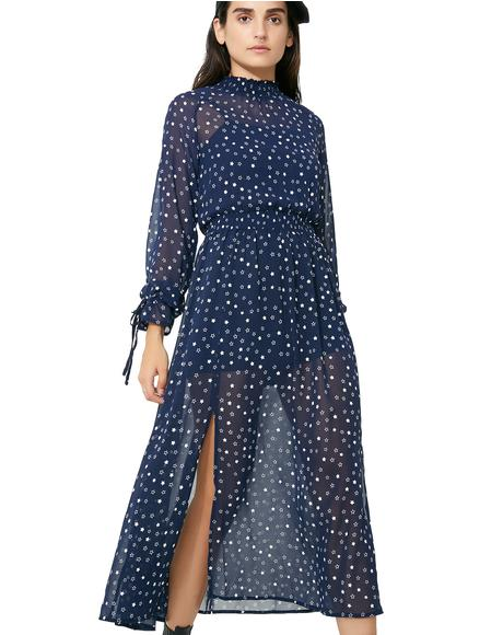 Twilight Shadows Maxi Dress
