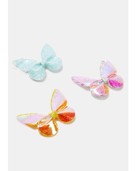 Kaleidoscope Vibes Glitter Hair Clip Set