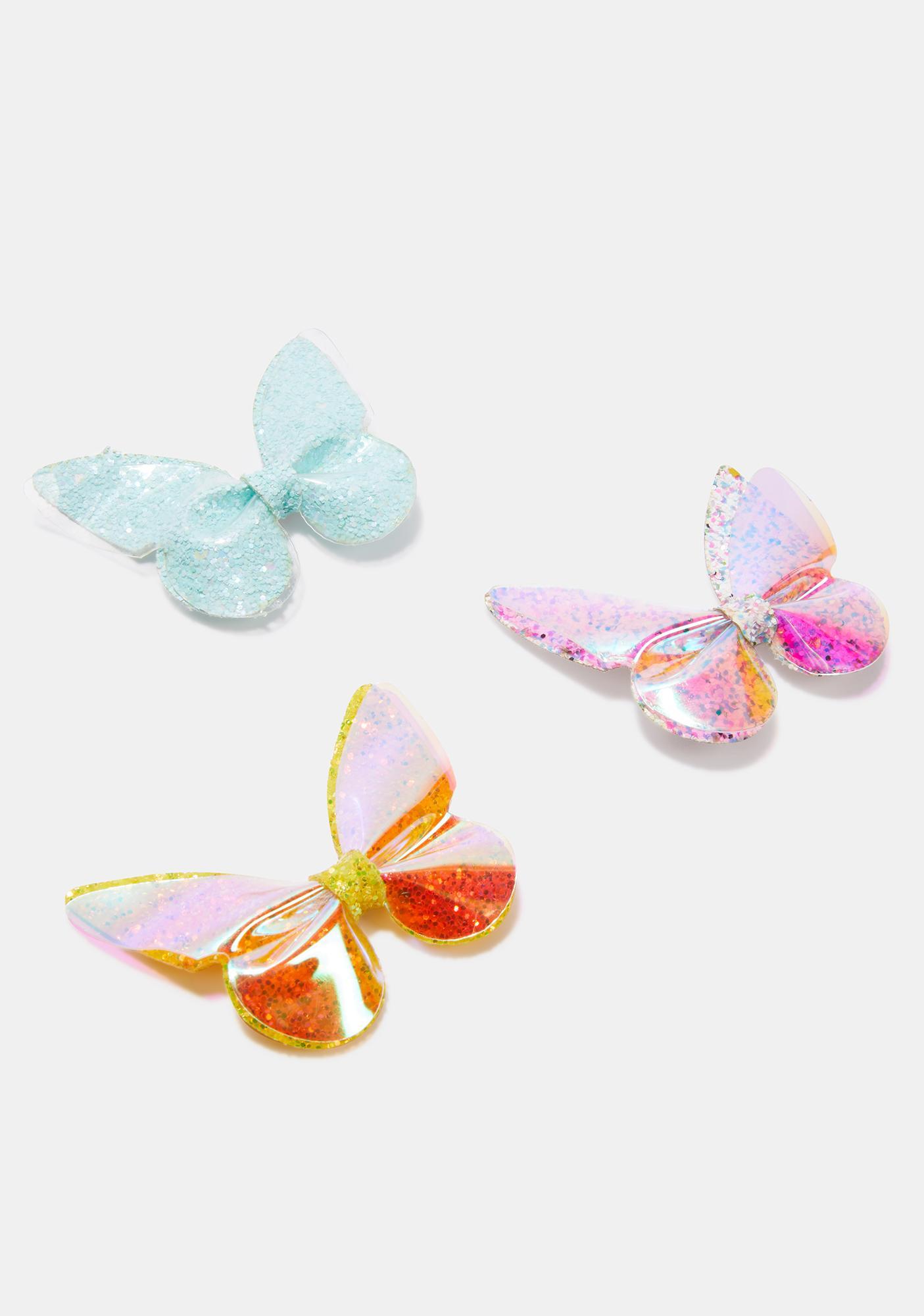 Kaleidoscope Vibes Glitter Hair Clip Set