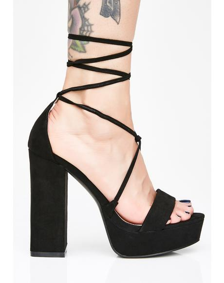 Sinful Stella Lace Up Heels