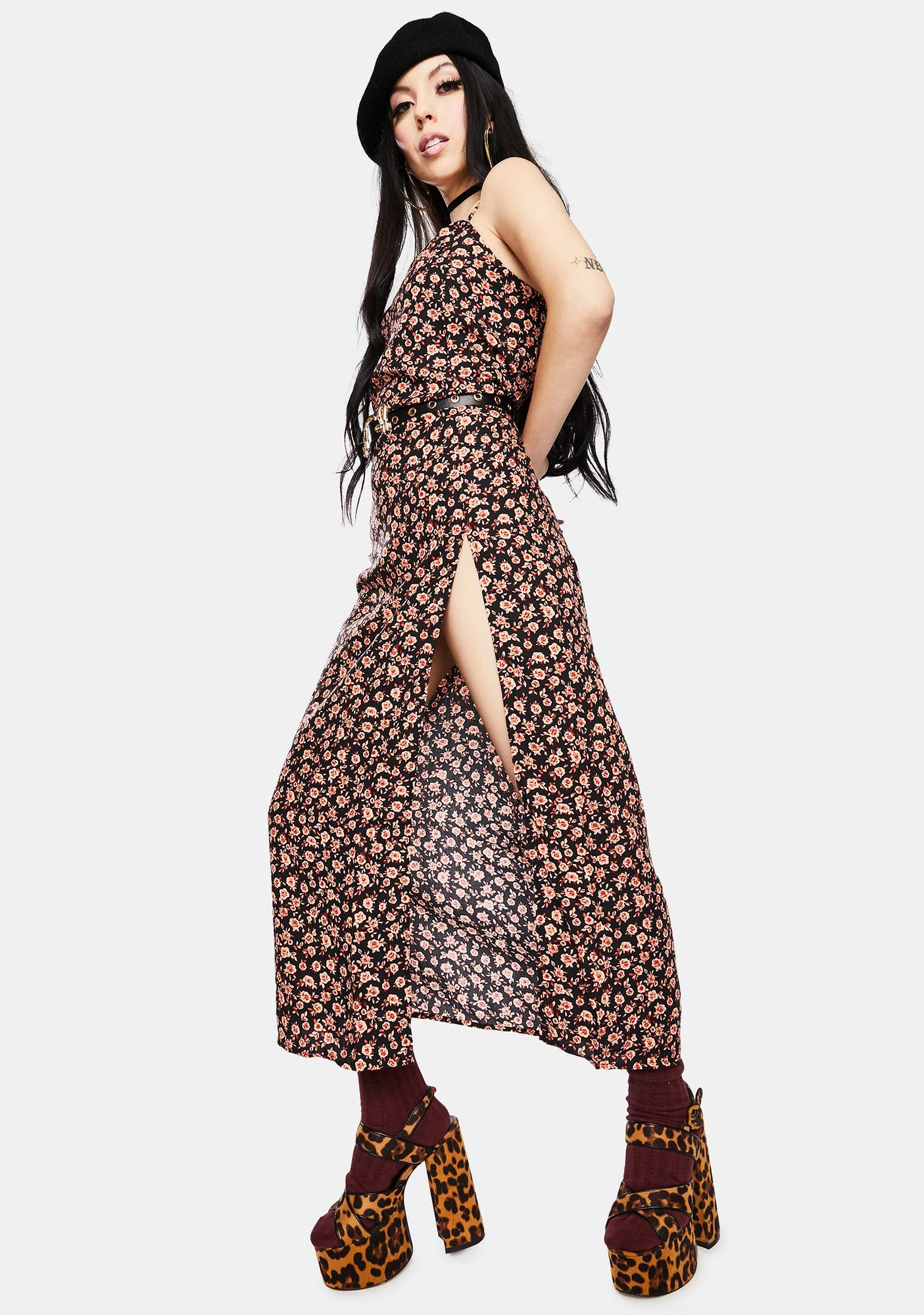 Motel Autumn Blossom Batis Maxi Dress