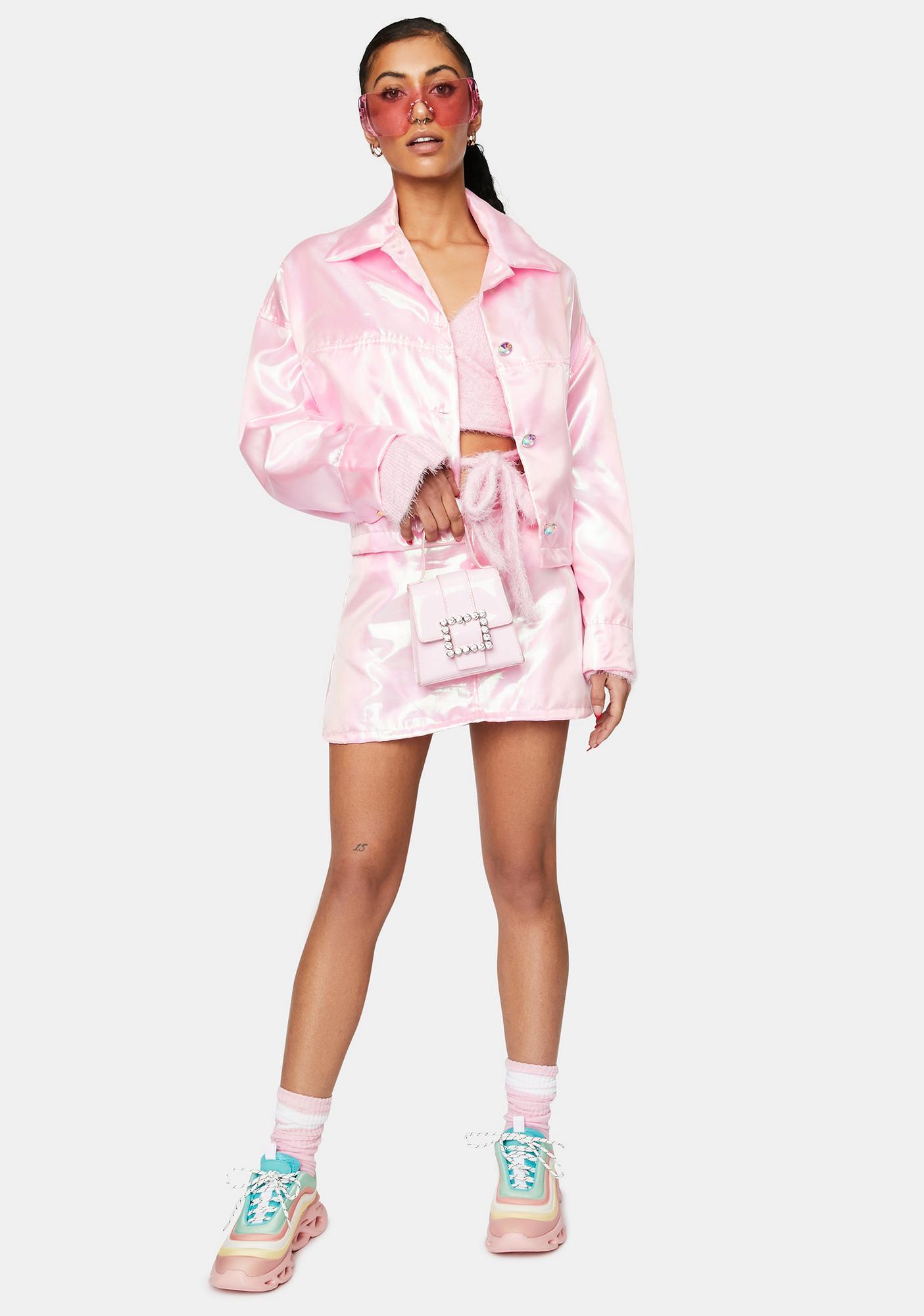 Sparkl Fairy Couture Light Pink Fairy Dust Mini Skirt