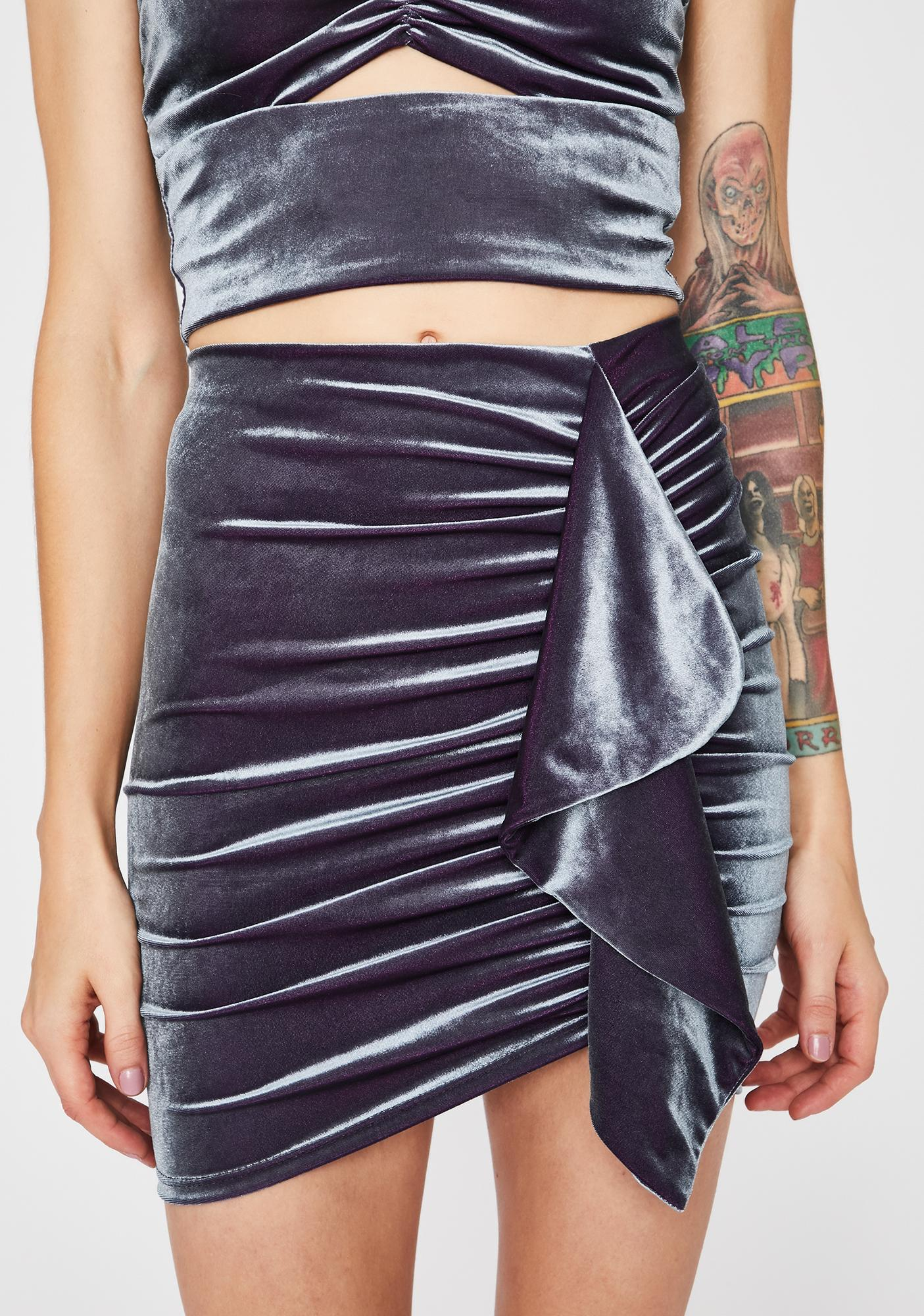 Moon Velvet Tears Mini Skirt
