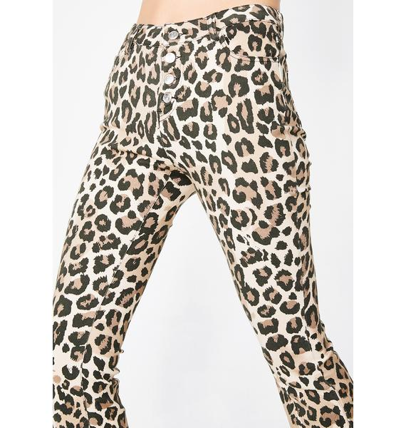 Current Mood Delinquent Leopard Pants