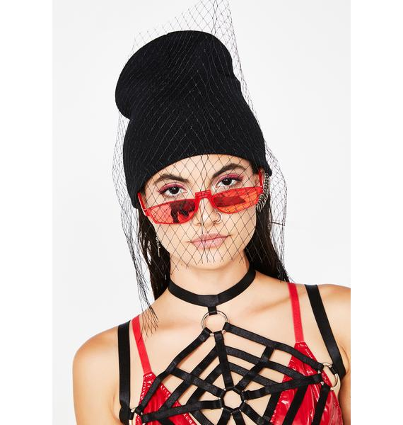 In Mourning Veil Beanie