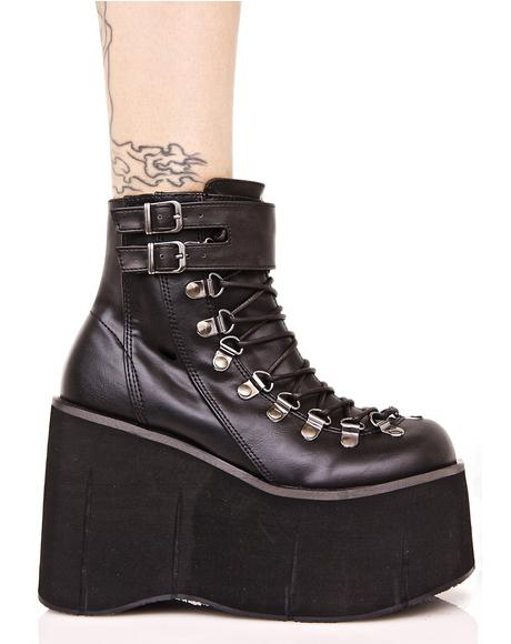 Kera Lace-Up Platform Boots
