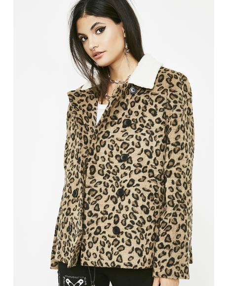 Sharp Claws Leopard Coat