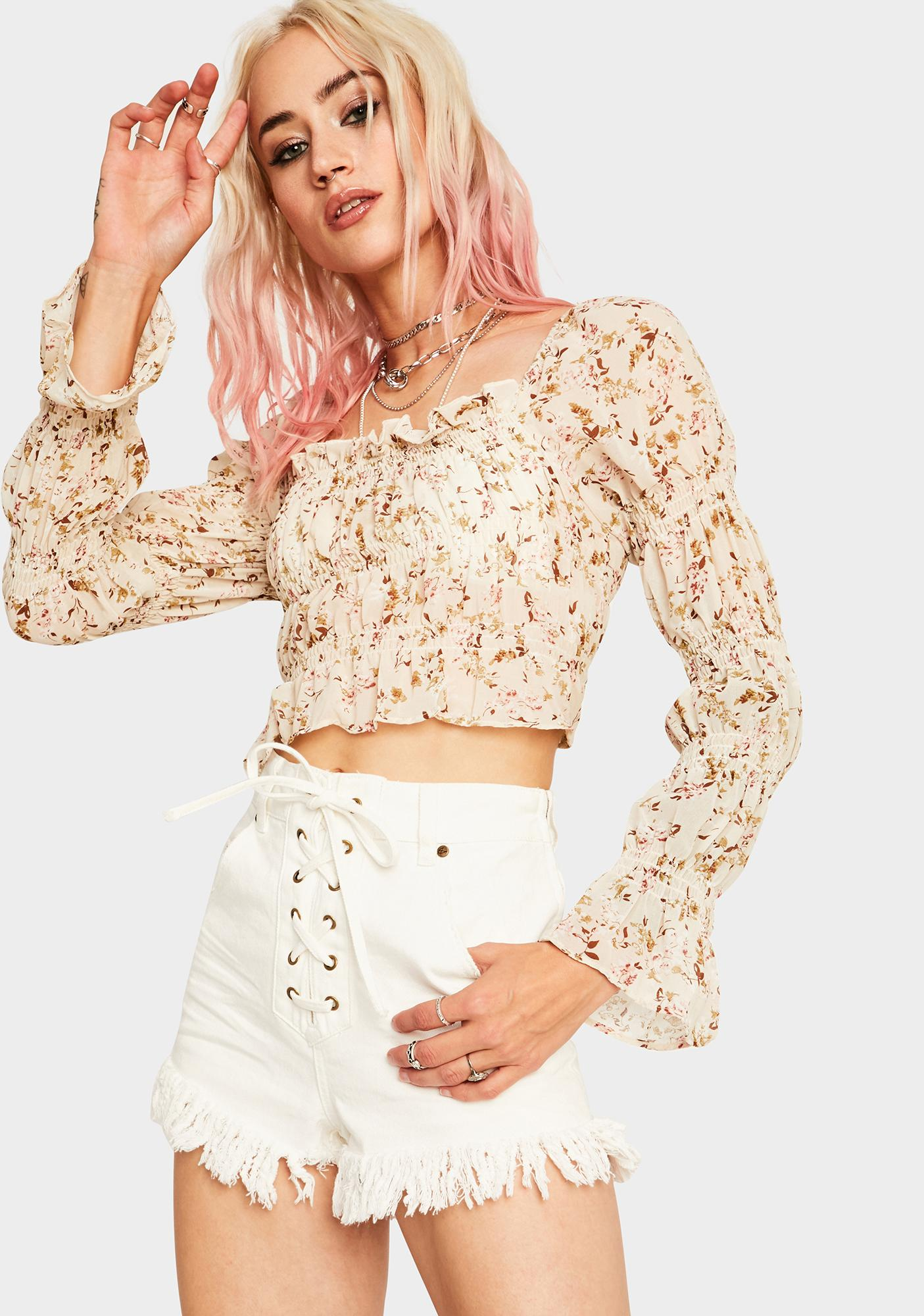 Looking For Boo Crop Top
