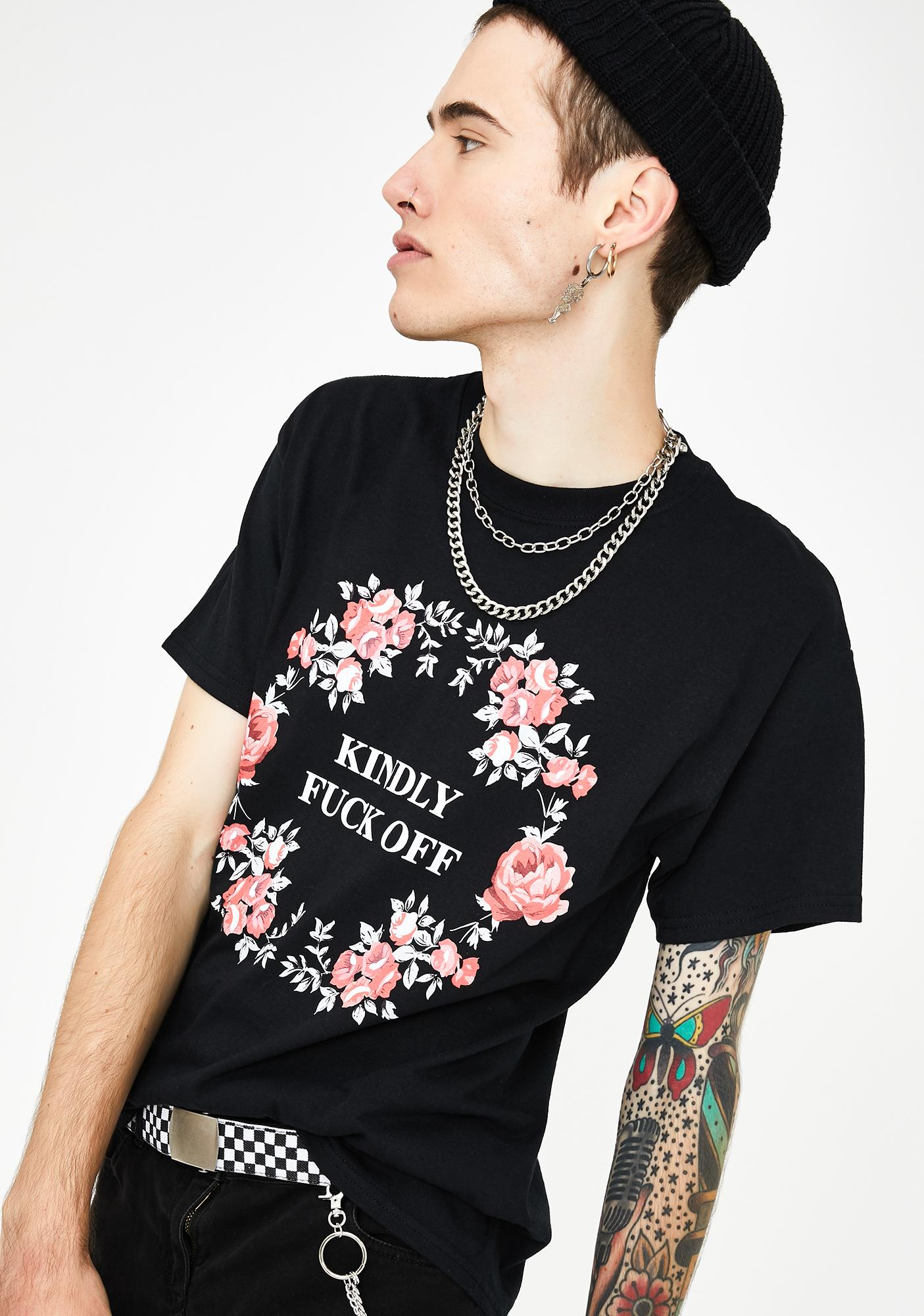 Petals and Peacocks Kindly Graphic Tee