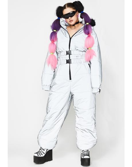 High Gamma Ray Glimmer Reflective Snowsuit