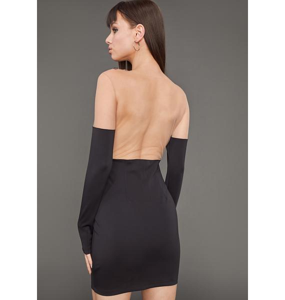 Poster Grl Sneak Peek Mesh Bodycon Dress