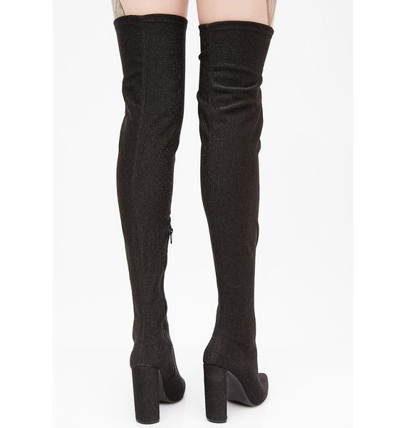 Sparkle Romance Over The Knee Boots