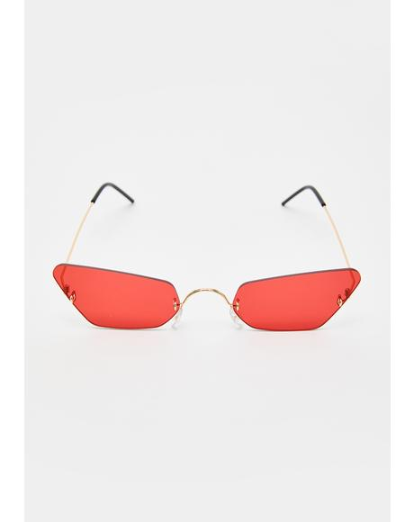 Fire Just Be Honest Clear Sunglasses