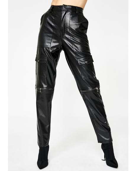 Faroe Faux Leather Trousers