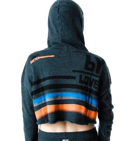 Day By Day Love Cropped Pullover Hoodie