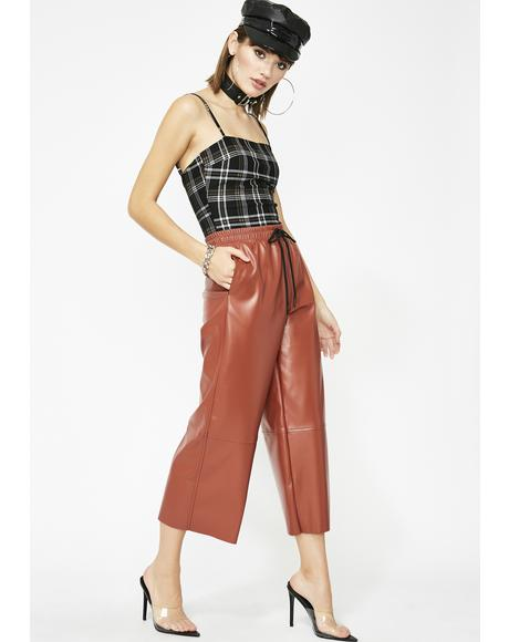 Material Addiction Cropped Pants