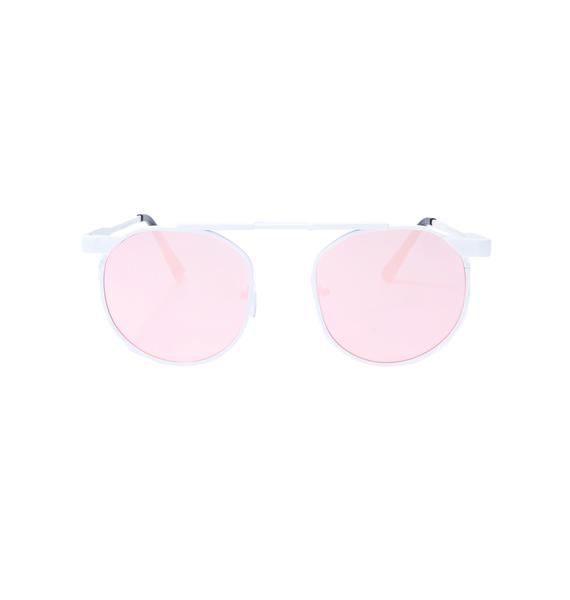Blush Techie Mirrored Sunglasses