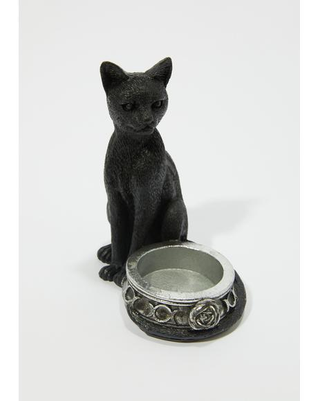 Black Cat Tea Light