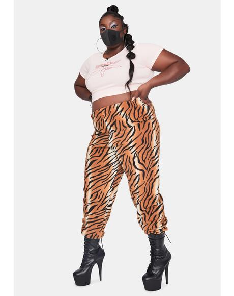 Curve Tiger Fleece Jogger Sweatpants