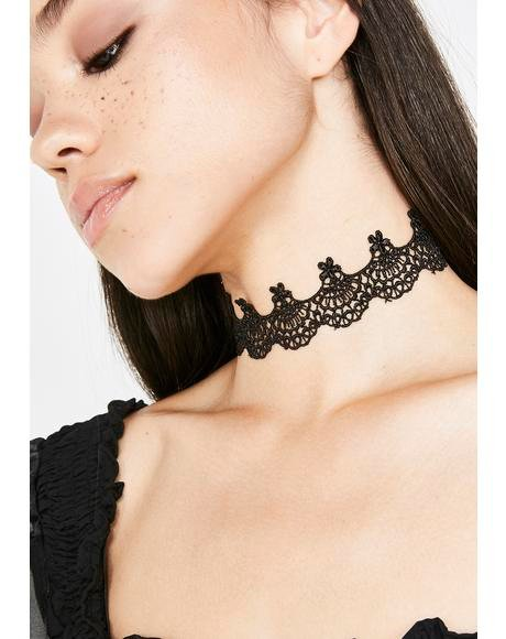 Dark Spirits Lace Choker