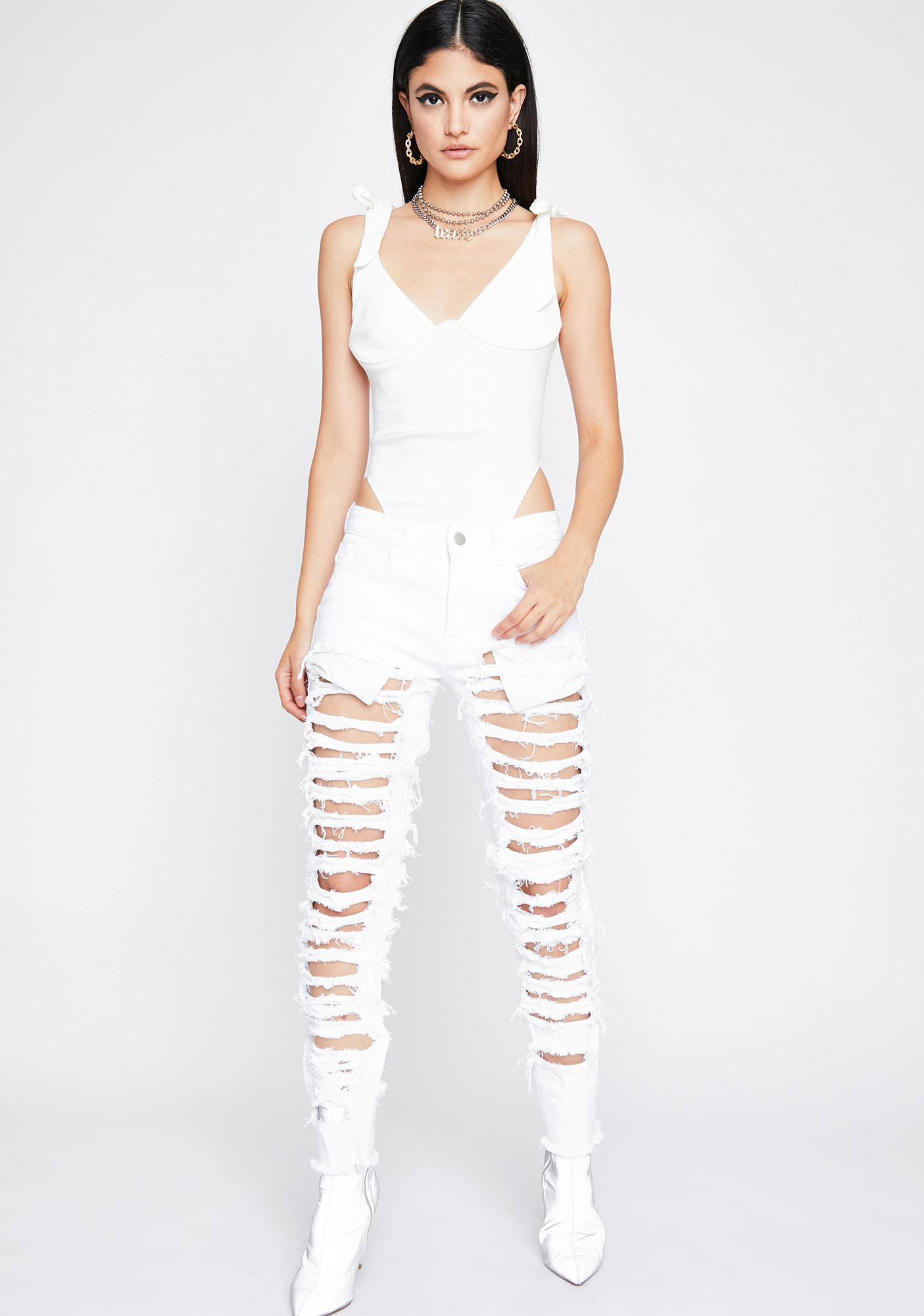 Frosted Honey Bun Knit Bodysuit