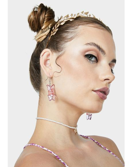 Fly & Flirty Drop Earrings