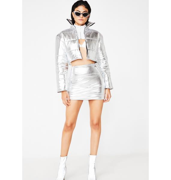 O Mighty Platinum Bratitude Puffer Skirt