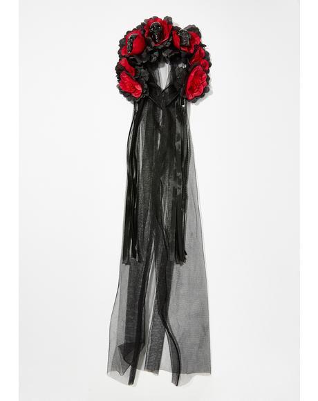 Goddess De La Muerte Headpiece