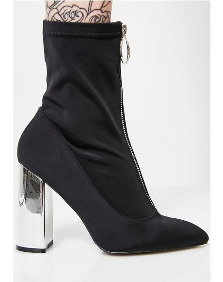 Sceptic Zip Front Lycra Ankle Boots