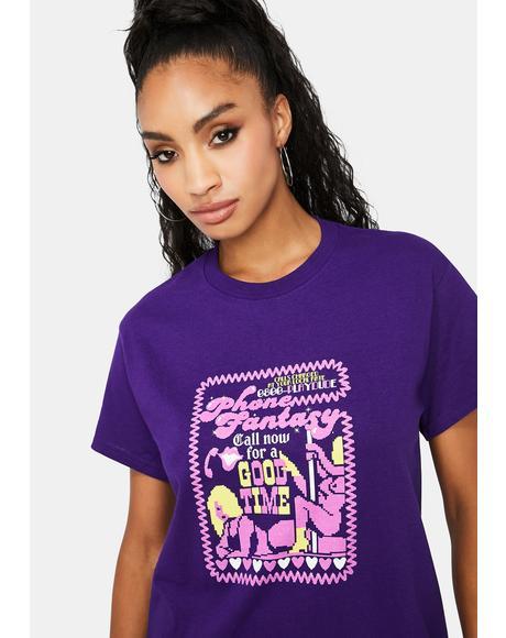 Purple Teletext Graphic Tee