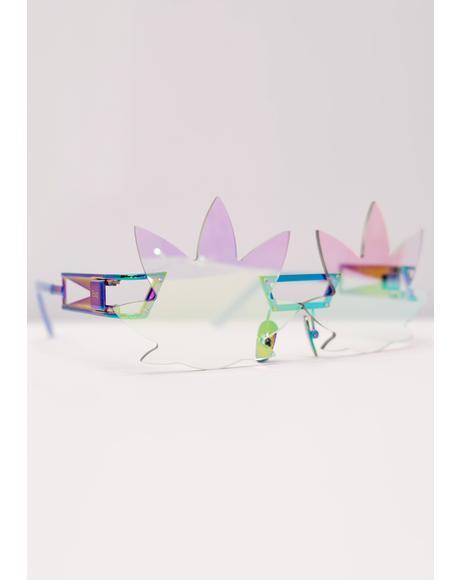 Hologram Leaf Speqz Sunglasses
