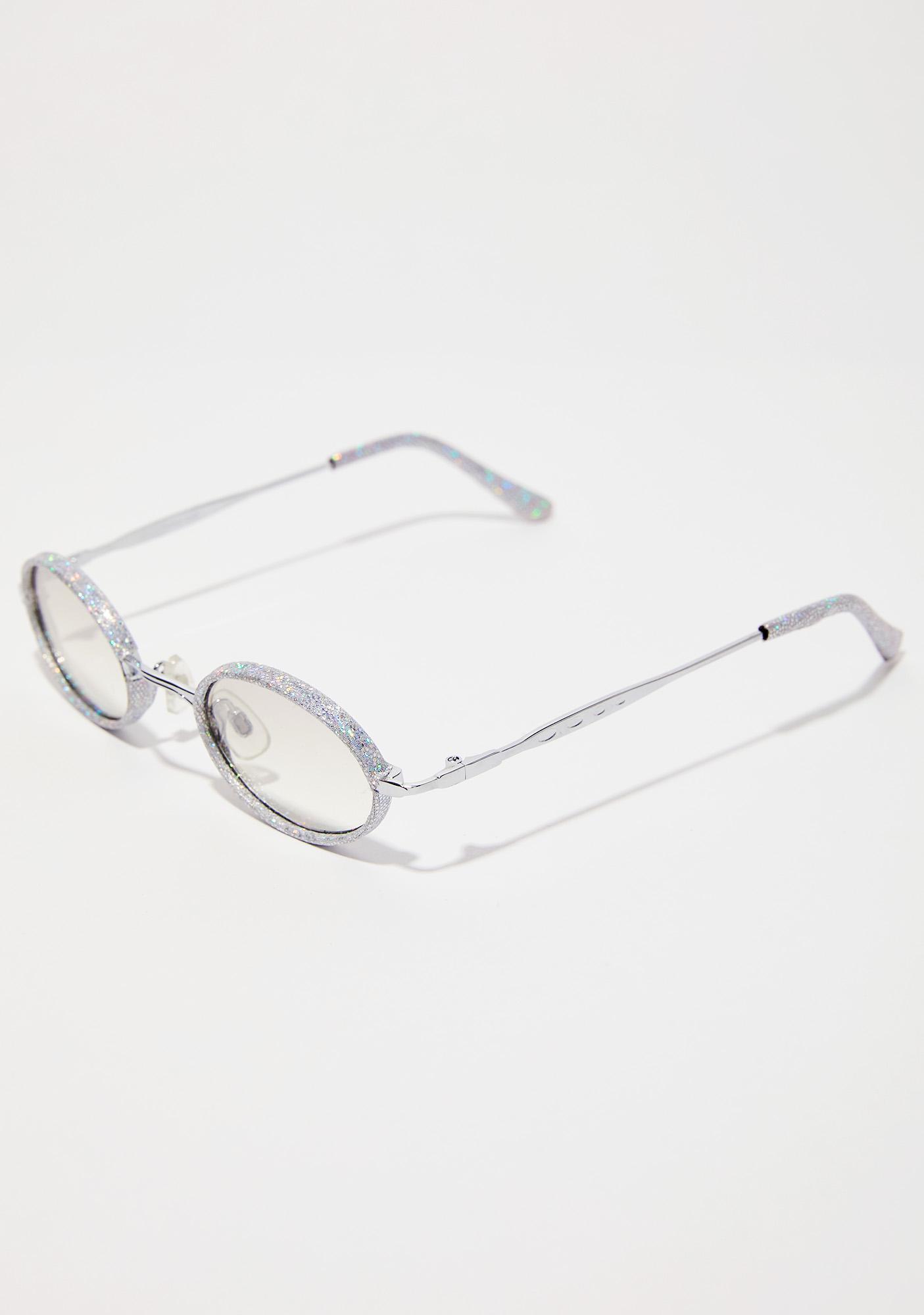 Lure Them In Glitter Sunglasses