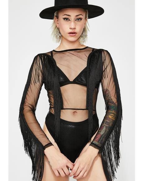 Grand Attraction Fringe Bodysuit