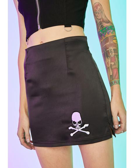 Walk The Plank Satin Skirt