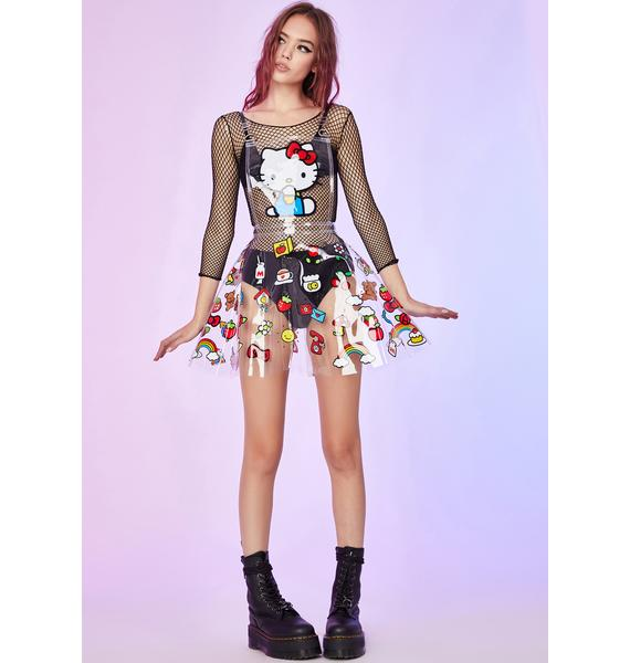 Dolls Kill x Hello Kitty Guilty As Charmed Clear Pinafore