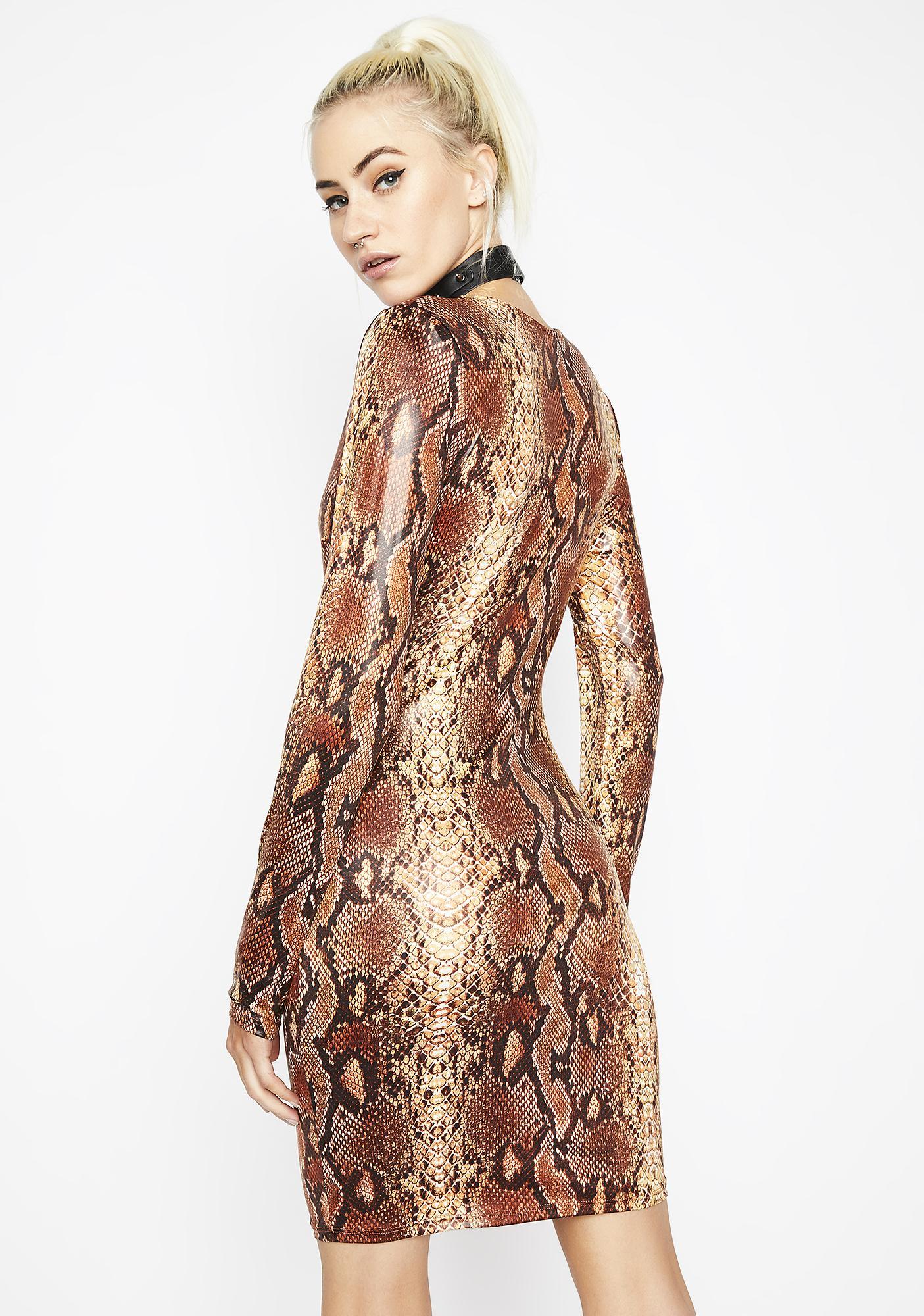 Slitherin' Thru Bodycon Dress