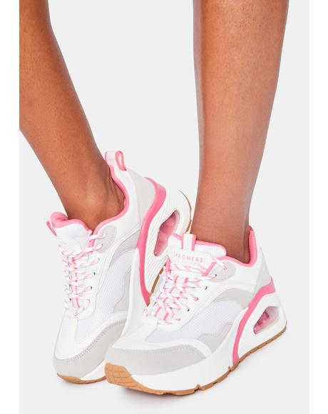White Big Steps Uno Hi Sneakers