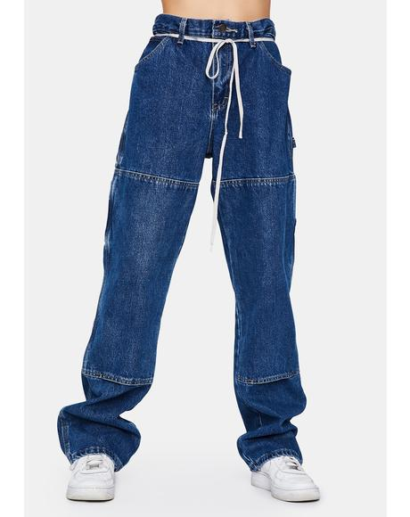 Relaxed Fit Double Knee Carpenter Jeans
