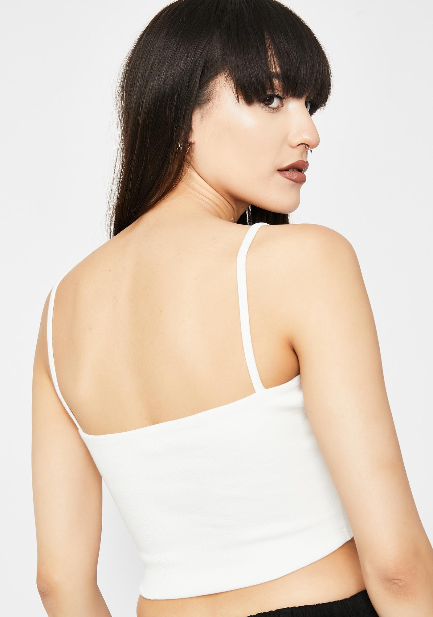 Ivory Jealous Much Bustier Top