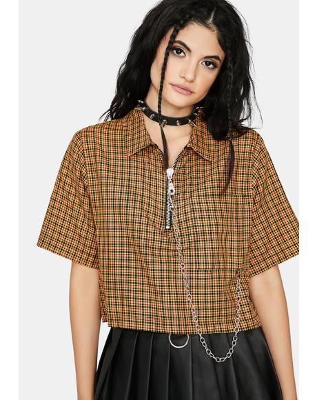Activation Plaid Crop Top