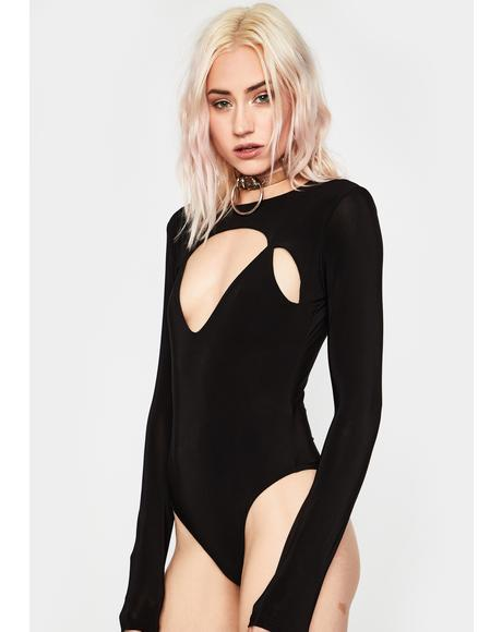 Real Bad Feeling Cutout Bodysuit
