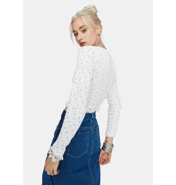 Love You Most Floral Crop Top