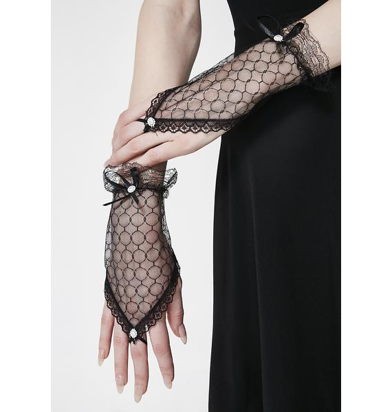Cast A Spell Lace Gloves