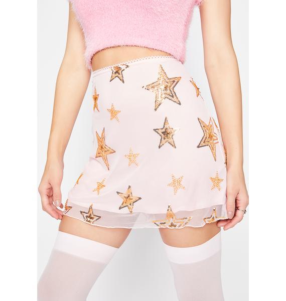 HOROSCOPEZ Blame The Stars Mesh Skirt